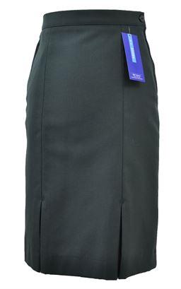 Picture of Bottle Green Senior Kick Pleat Skirt