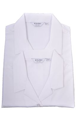 Picture of Plain White Rever Collar Blouse Twin Pack - Trutex