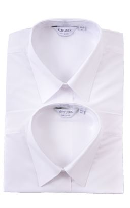 Picture of Plain White Short Sleeved Blouse Twin Pack - Trutex