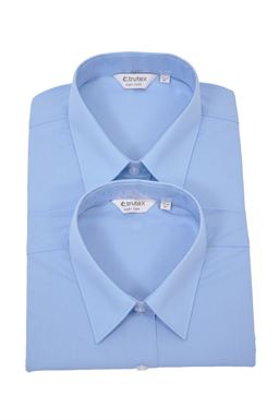 Picture of Plain Blue Short Sleeved Blouse Twin Pack - Trutex