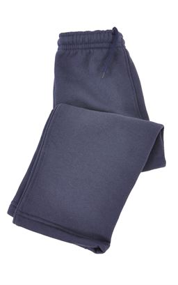 Picture of Fleece Jogging Bottoms Open Cuff - Solid