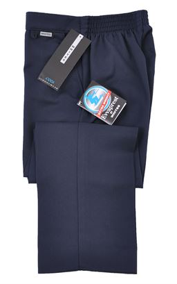 Picture of Navy Boys Zip and Clip Trousers - Whites