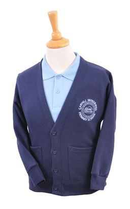 Picture of Carhill Integrated PS Sweat Cardigan - Blue Max