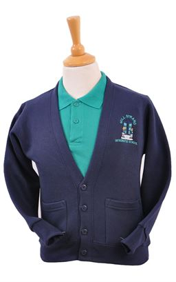 Picture of Millstrand Int Sweat Cardigan - Blue Max