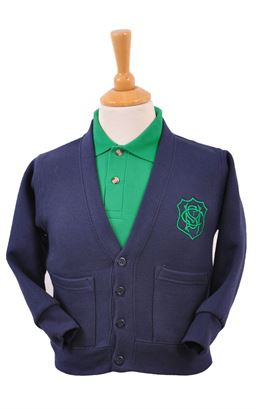 Picture of St Malachy's PS Sweat Cardigan - Blue Max