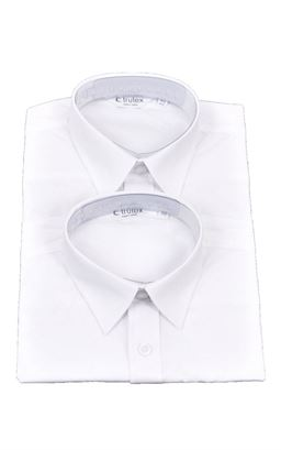 Picture of Plain White Long Sleeved Shirts Twin Pack - Trutex