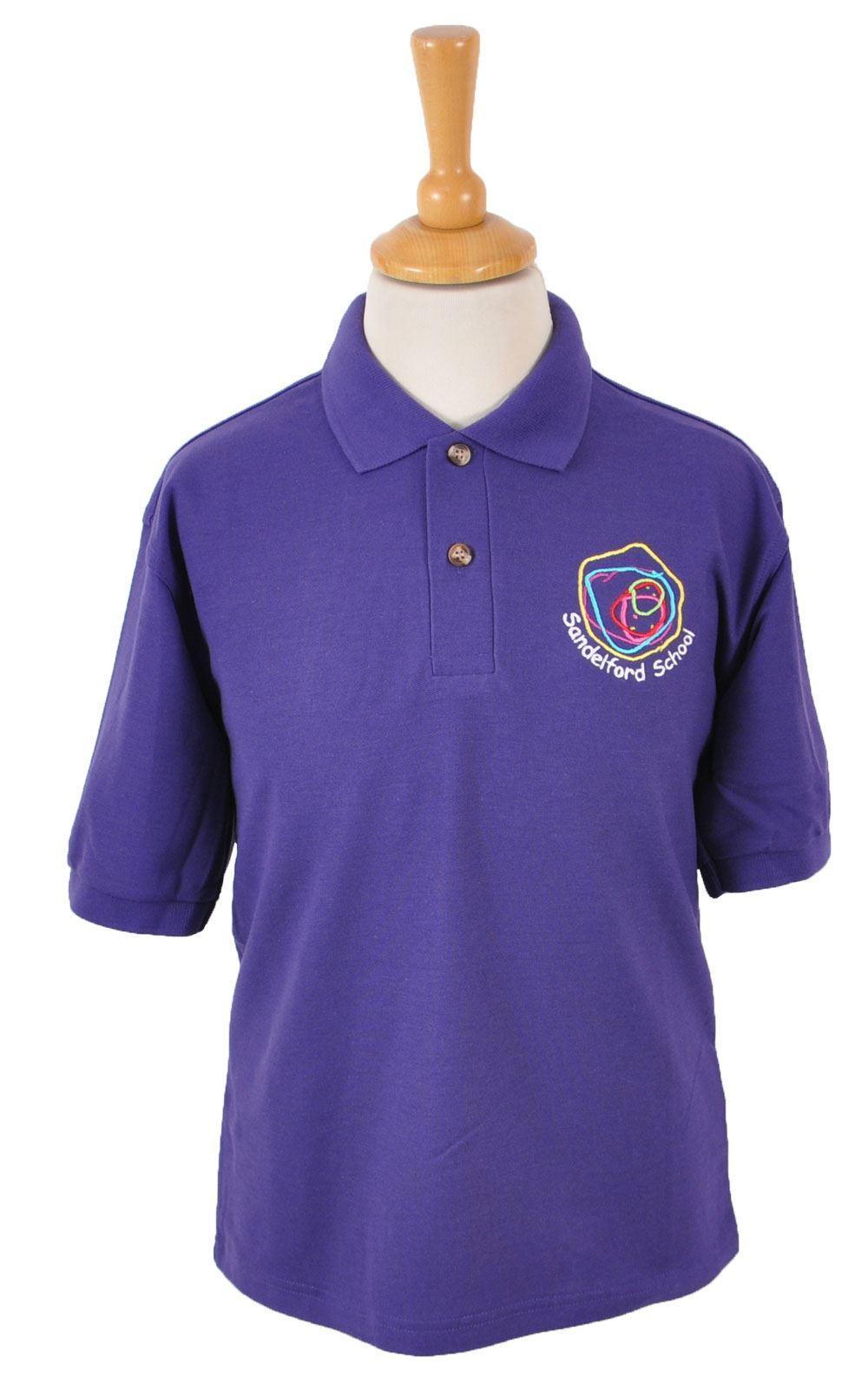 St Moore Sandelford School Purple Polo Blue Max