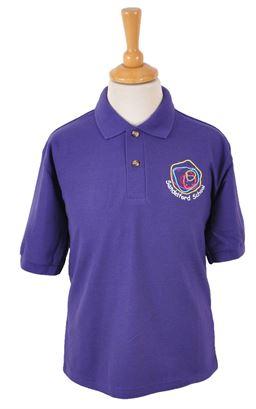 Picture of Sandelford School Purple Polo - Blue Max
