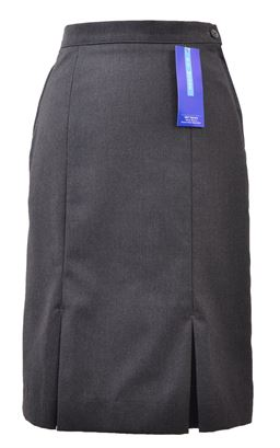 Picture of Grey Kick Pleat Skirt - S&T