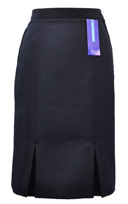 Picture of Navy Kick Pleat Skirt - S&T
