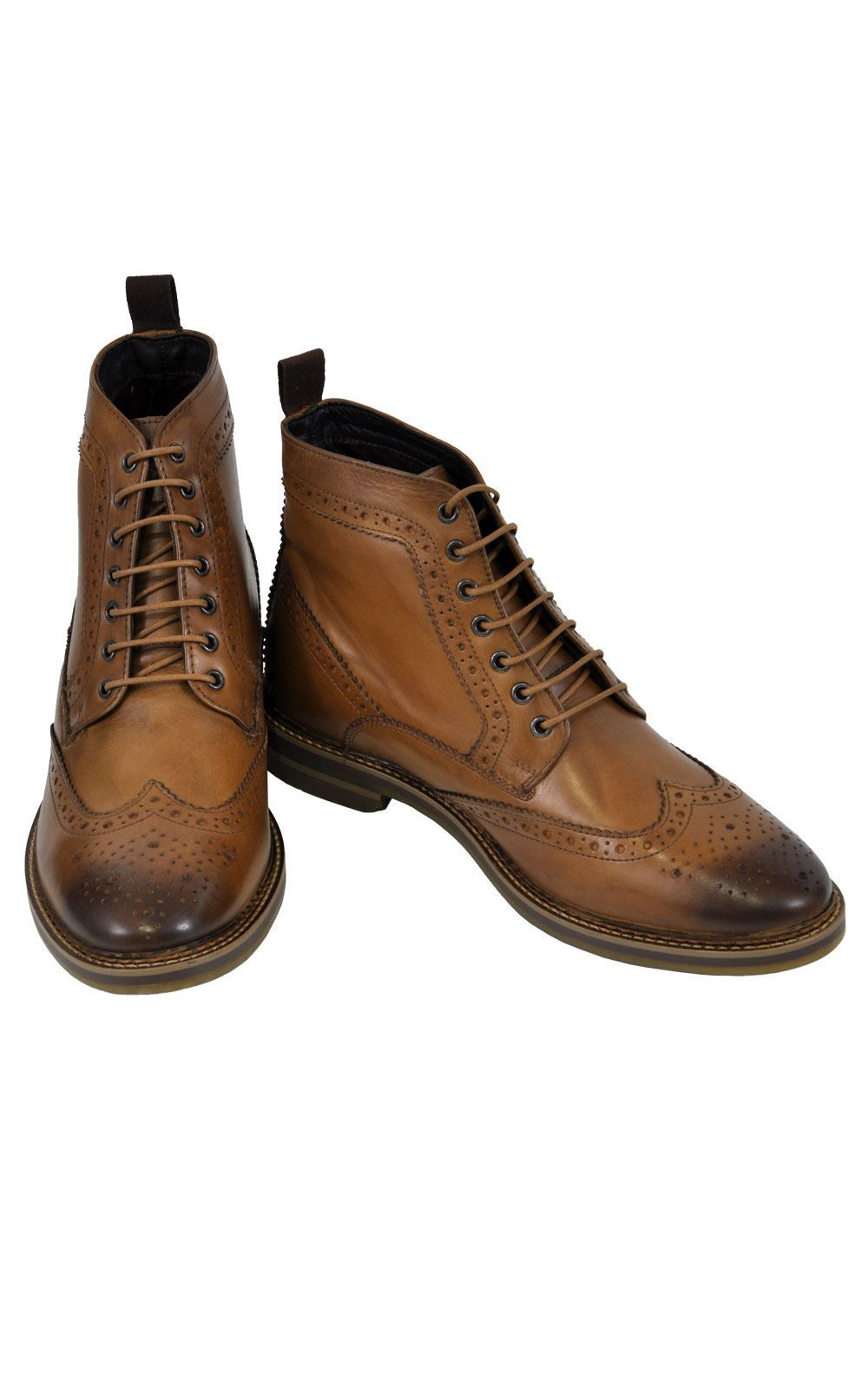 new product ef3af f606e Base London Boots Hurst Burnished