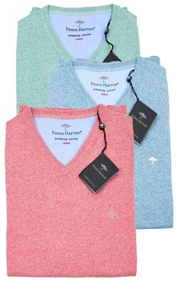 Picture of Fynch-Hatton V-Neck Pullover 1117-230