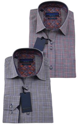 Picture of Benetti Long Sleeve Shirt Navi