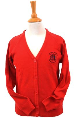 Picture of Irish Society's Charles Kirk Girls Cool Flow Red Cardigan
