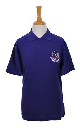 Picture of Sandelford School Purple Polo Shirt - Woodbank