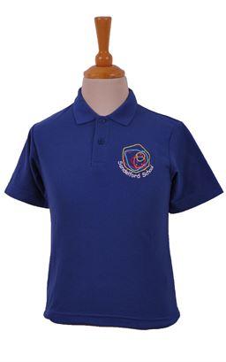 Picture of Sandelford School Dark Royal Polo Shirt - Woodbank