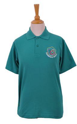 Picture of Sandelford School Deep Jade Polo Shirt - Woodbank