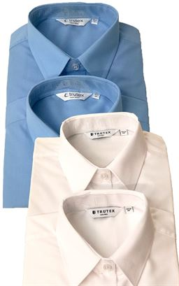 Picture of Short Sleeved Non-Iron Blouse Twin Pack  - Trutex