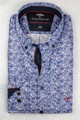 Picture of Fynch Hatton Long Sleeve Shirt 1220-6110