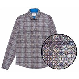 Picture of D R K Mish Mash Long Sleeve Shirt Galaxy 2308GAL